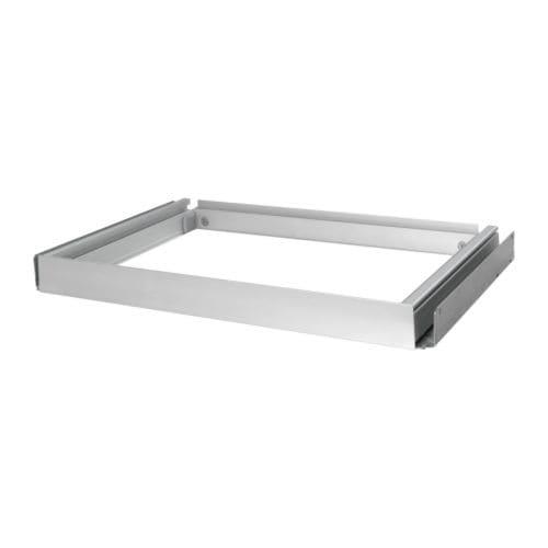 INREDA Utdragbar ram , silverfärgad Djup: 36 cm Bredd: 53 cm Max. belastning: 8 kg