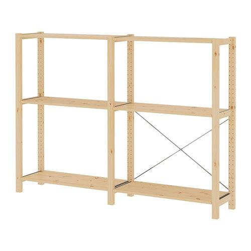 ivar 2 sektioner hyllor ikea. Black Bedroom Furniture Sets. Home Design Ideas