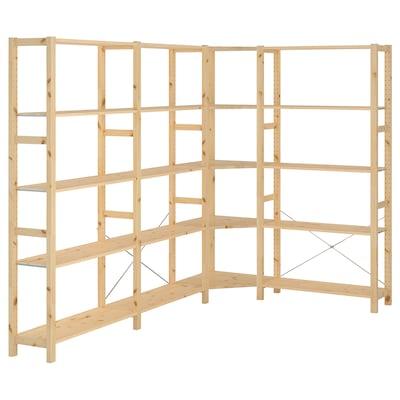 IVAR 4 sektioner/hörn, furu, 229/144x30x179 cm