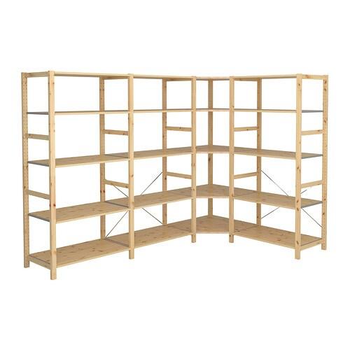 IVAR 4 sektioner hörn IKEA