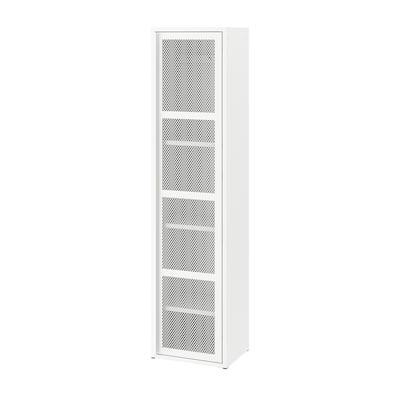 IVAR Skåp med dörr, vit mesh, 40x160 cm