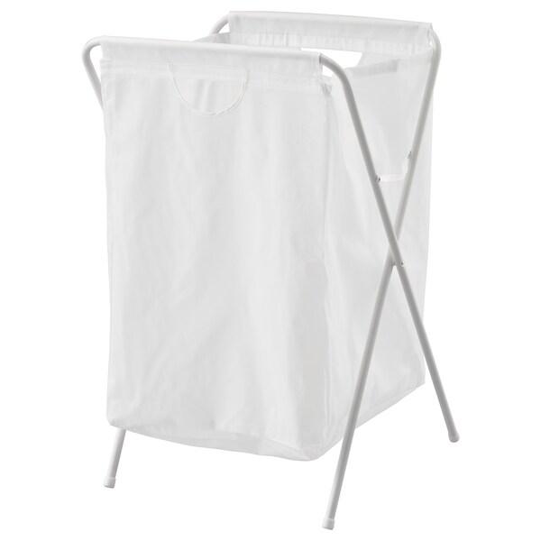 JÄLL tvättsäck med stativ vit 41 cm 43 cm 64 cm 70 l