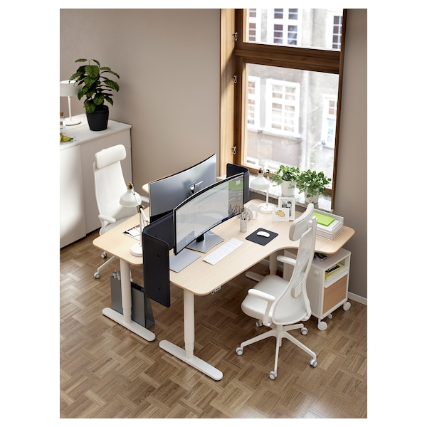 JÄRVFJÄLLET kontorsstol med armstöd Gunnared beige/vit 110 kg 68 cm 68 cm 140 cm 52 cm 46 cm 45 cm 56 cm