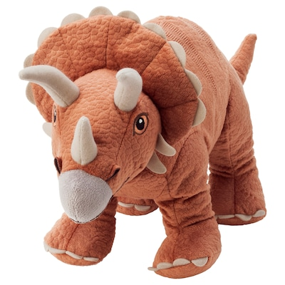 JÄTTELIK Mjukdjur, dinosaurie/dinosaurie/triceratops, 46 cm