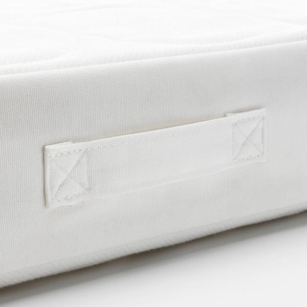JÄTTETRÖTT Pocketresårmadrass för spjälsäng, vit, 60x120x11 cm