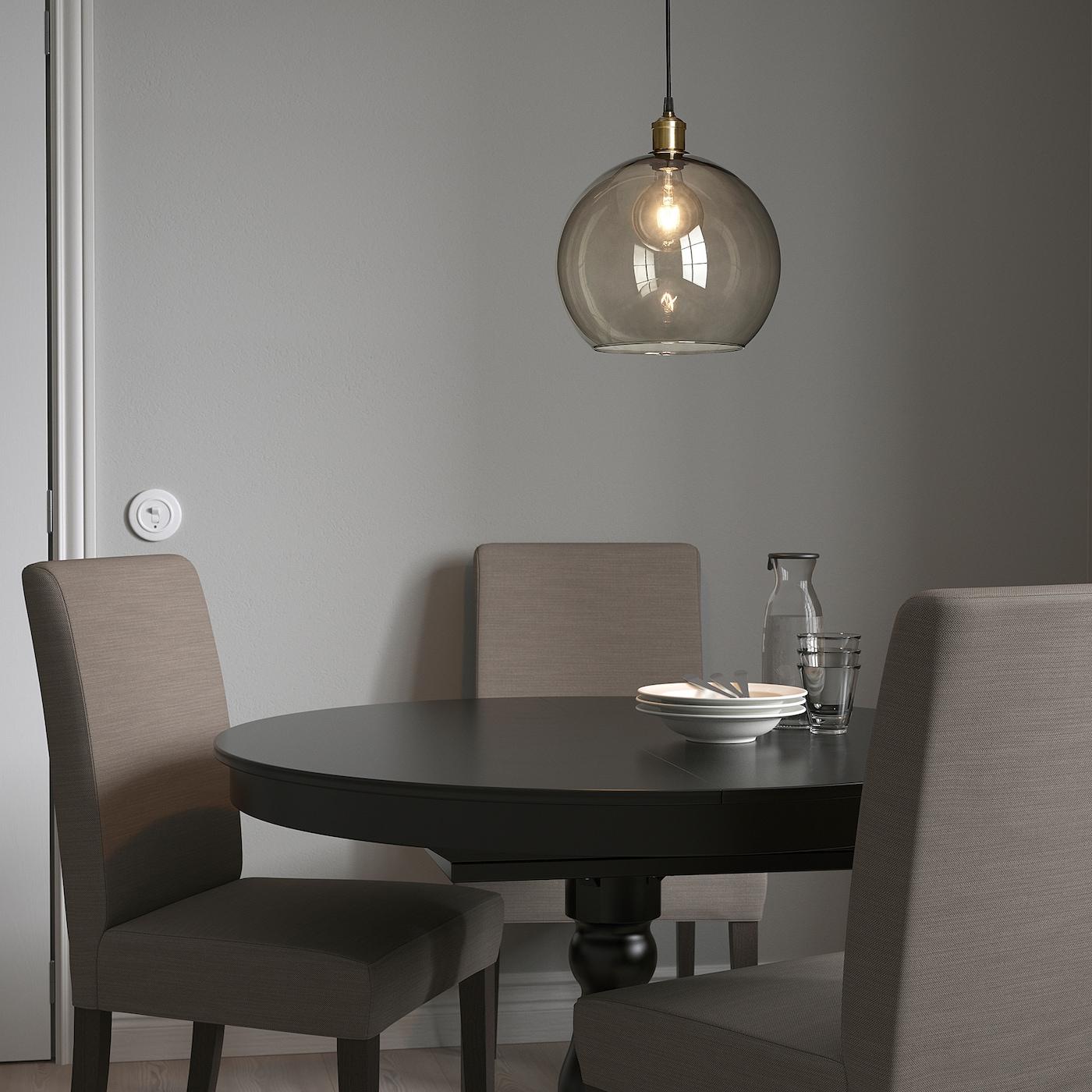 JAKOBSBYN JÄLLBY Taklampa rökfärgat glasförmässingad