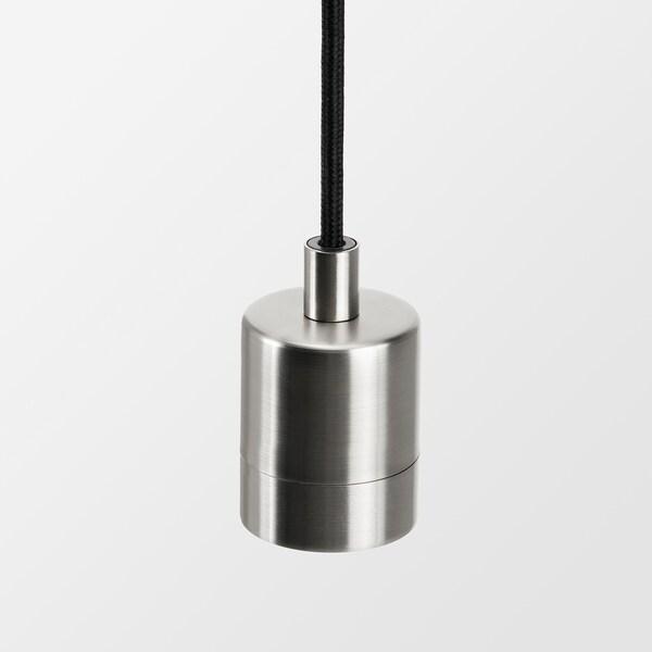 JAKOBSBYN / SKAFTET Taklampa, vit/förnicklad, 15 cm