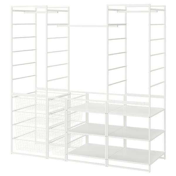 JONAXEL Garderobskombination, vit, 173x51x173 cm