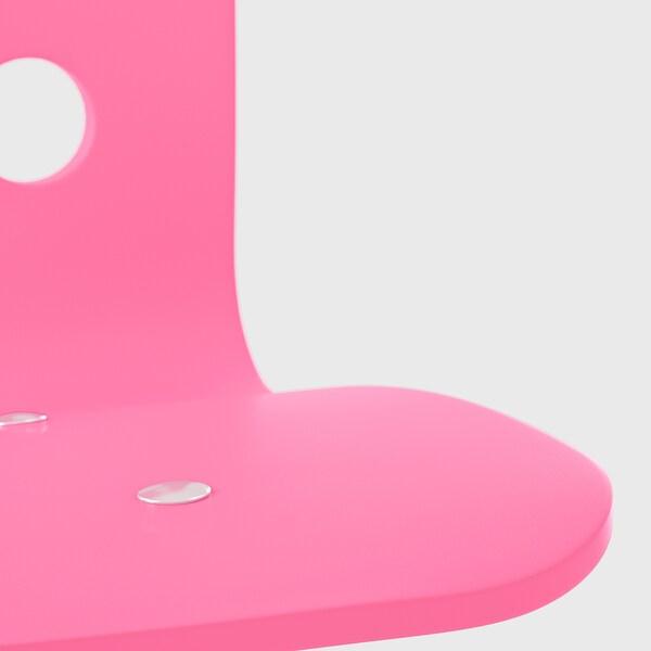 JULES Skrivbordsstol för barn, rosa/vit
