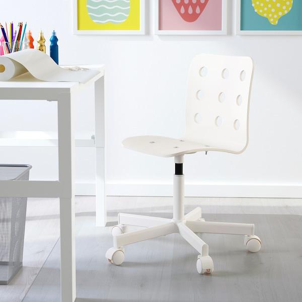 JULES Skrivbordsstol för barn, vit IKEA