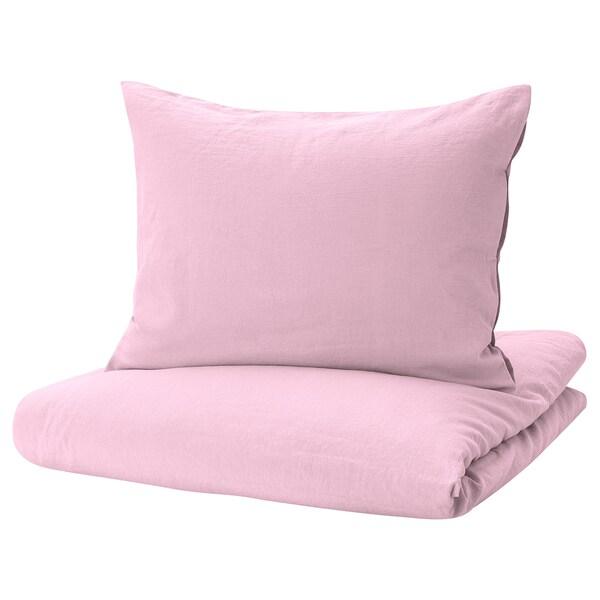 JULSTJÄRNA Påslakan 1 örngott, rosa, 150x200/50x60 cm