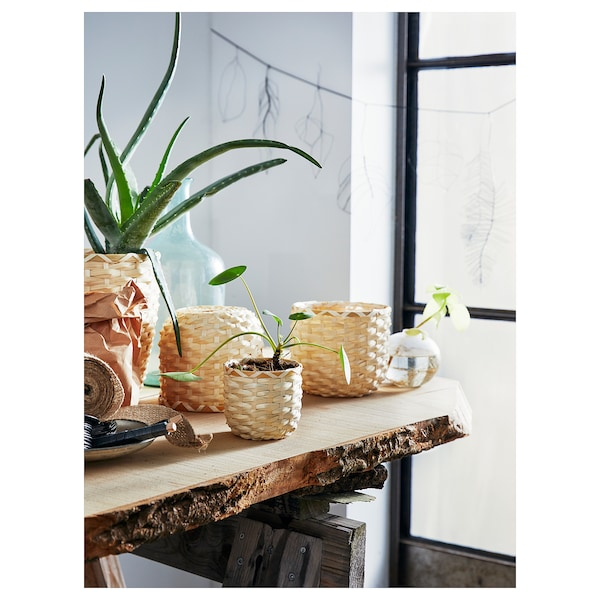 KAFFEBÖNA Kruka, bambu, 9 cm