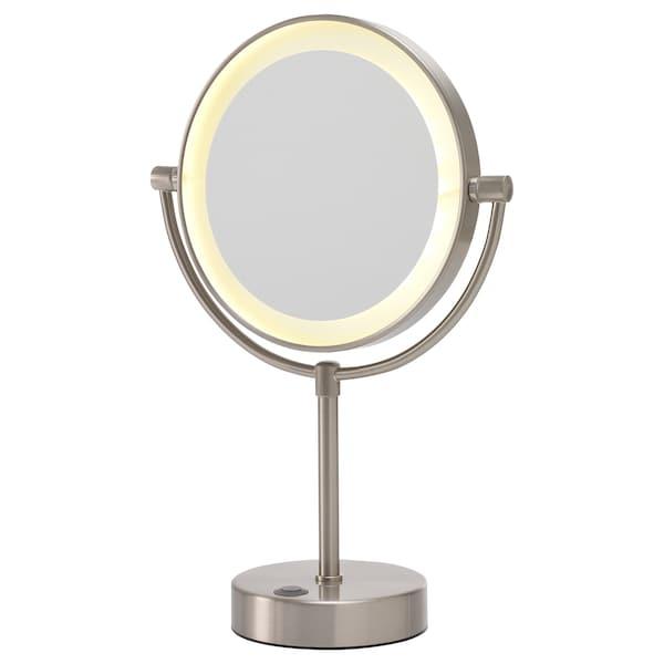 KAITUM Spegel med integrerad belysning, batteridriven, 20 cm