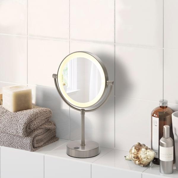 KAITUM Spegel med integrerad belysning batteridriven 20 cm