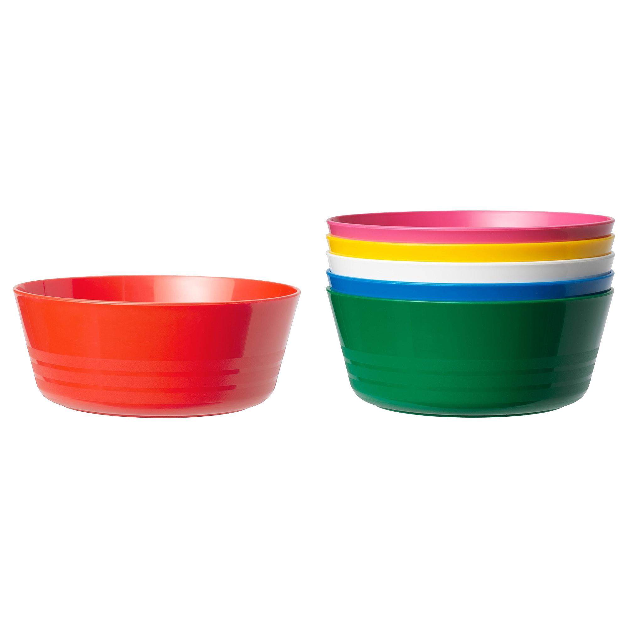 KALAS skål flerfärgad 12 cm 6 styck