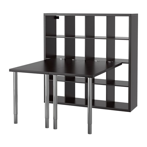 kallax bordskombination svartbrun ikea. Black Bedroom Furniture Sets. Home Design Ideas