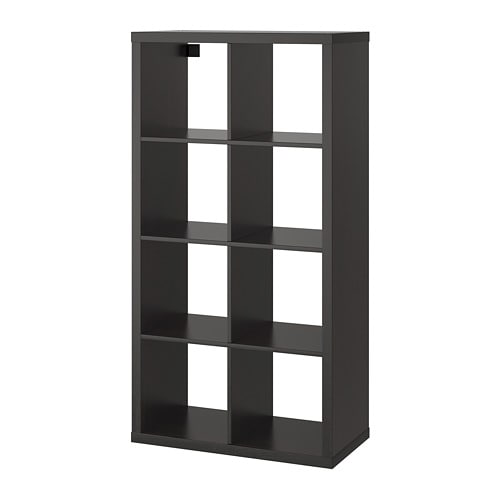 Kallax Hylla Svartbrun Ikea