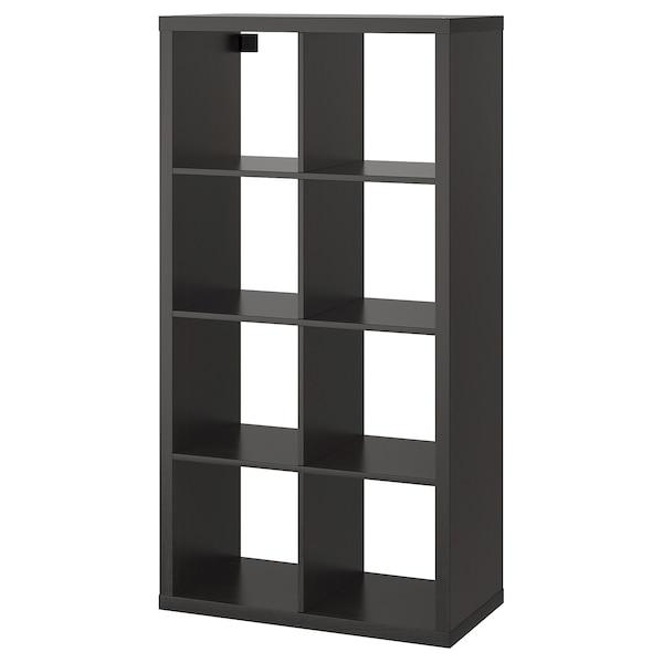 KALLAX Hylla, svartbrun, 77x147 cm