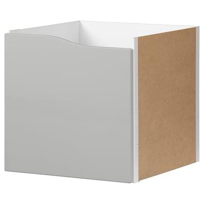 KALLAX Insats med dörr, grå, 33x33 cm