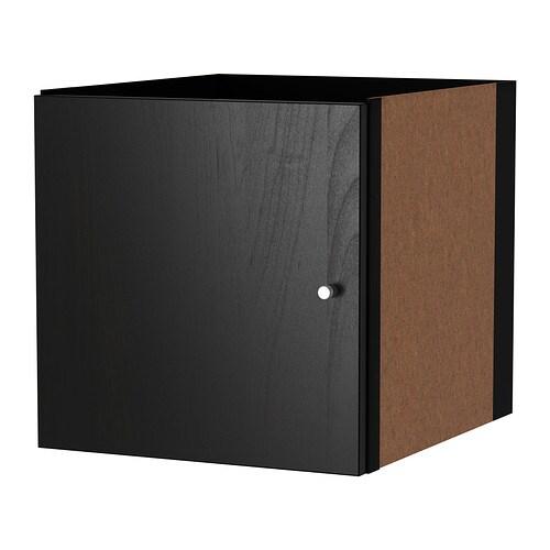 KALLAX Insats med dörr svartbrun IKEA