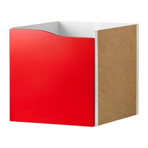 KALLAX Insats med dörr röd IKEA