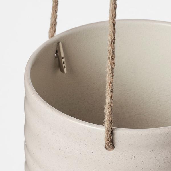 KAPKRUSBÄR Ampel, ljusgrå, 12 cm