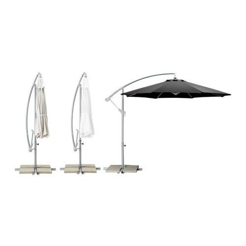 KARLSÖ Parasoll, frihängande IKEA Textilen är vattenavvisande och den har ett utmärkt UV-skydd (min.  97,5 av UV-strålningen blockeras).