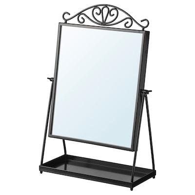 KARMSUND Bordsspegel, svart, 27x43 cm