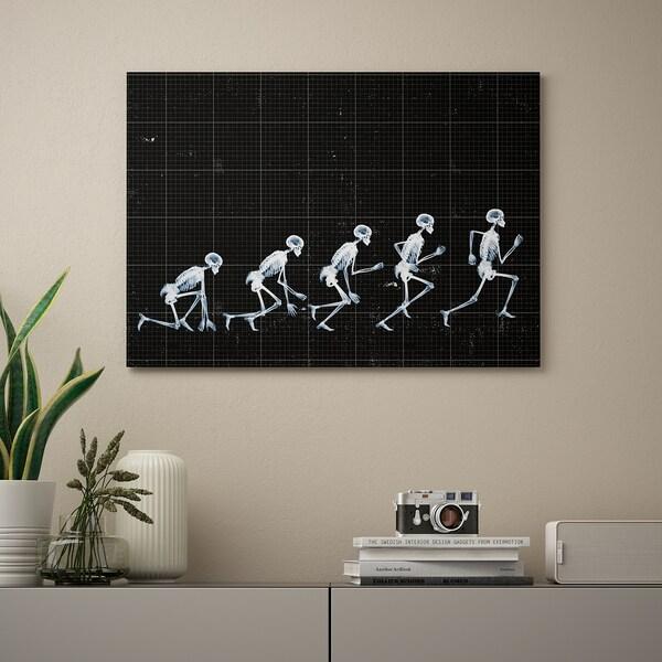 KATEBO Tavla, Springande skelett/styrenplast, 70x50 cm