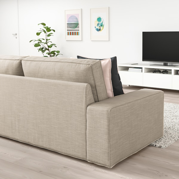 KIVIK 3-sits soffa, Hillared beige