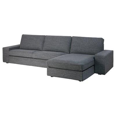 KIVIK 4-sitssoffa med schäslong/Lejde grå/svart 318 cm 83 cm 95 cm 163 cm 60 cm 124 cm 45 cm