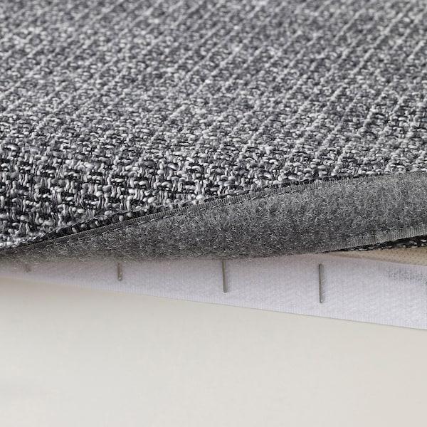 KIVIK Fotpall med förvaring, Lejde grå/svart