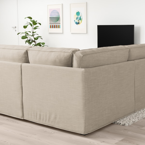 KIVIK U-formad soffa, 6-sits, Hillared beige