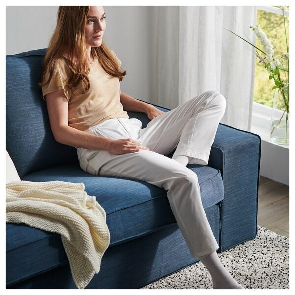 KIVIK U-formad soffa, 6-sits, Hillared mörkblå
