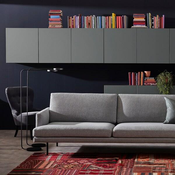 KLINTORP 4-sitssoffa, med schäslong, höger grå