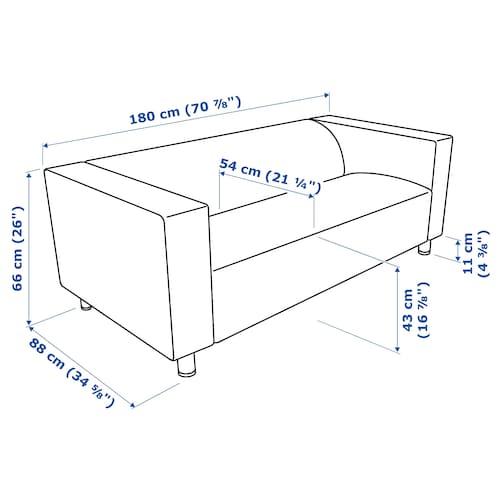 KLIPPAN Stomme, 2 sitssoffa vitstopp IKEA