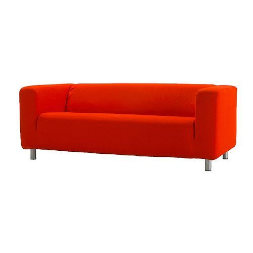 KLIPPAN Klädsel 2-sits soffa, Granån röd
