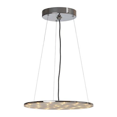 KLOR LED taklampa , förnicklad Diameter: 40 cm Höjd: 138 cm Sladdlängd: 1.3 m