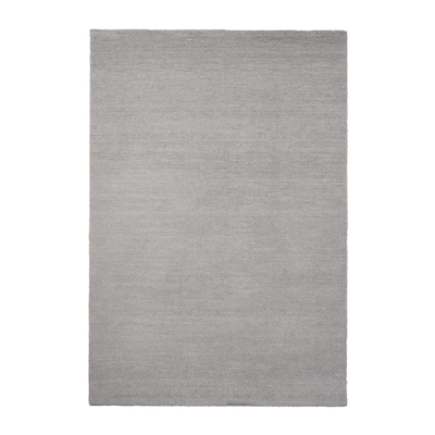 KNARDRUP Matta, kort lugg, ljusgrå, 133x195 cm