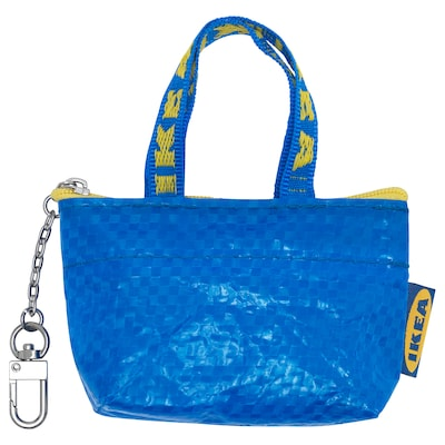 KNÖLIG Väska, liten blå, 9x7 cm