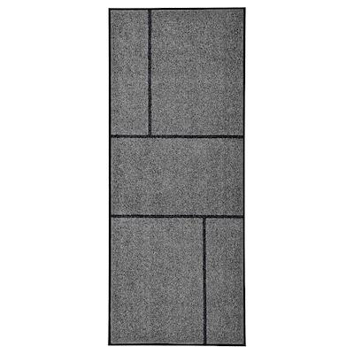 KÖGE Dörrmatta, grå/svart, 82x200 cm