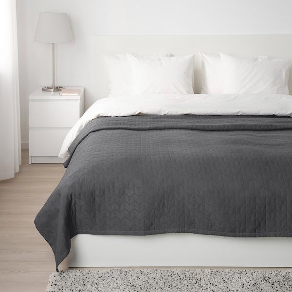 KÖLAX Överkast, grå, 230x250 cm