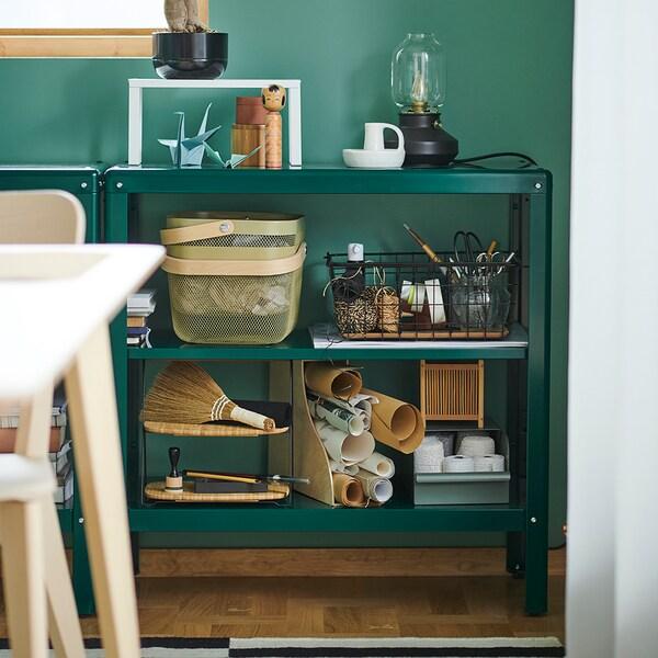 KOLBJÖRN Hylla inom-/utomhus, grön, 80x81 cm