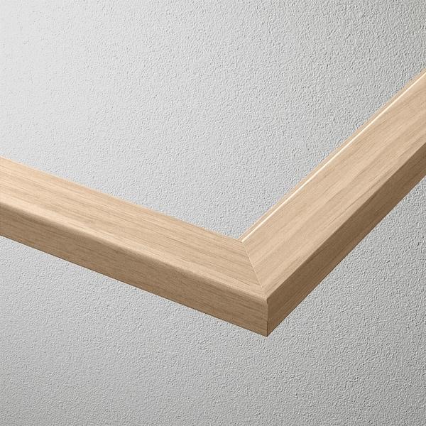 KOMPLEMENT Glashyllplan, vitlaserad ekeffekt, 50x58 cm