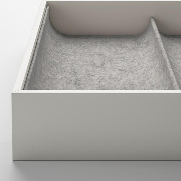 KOMPLEMENT Insats med 4 fack, ljusgrå, 25x53x5 cm