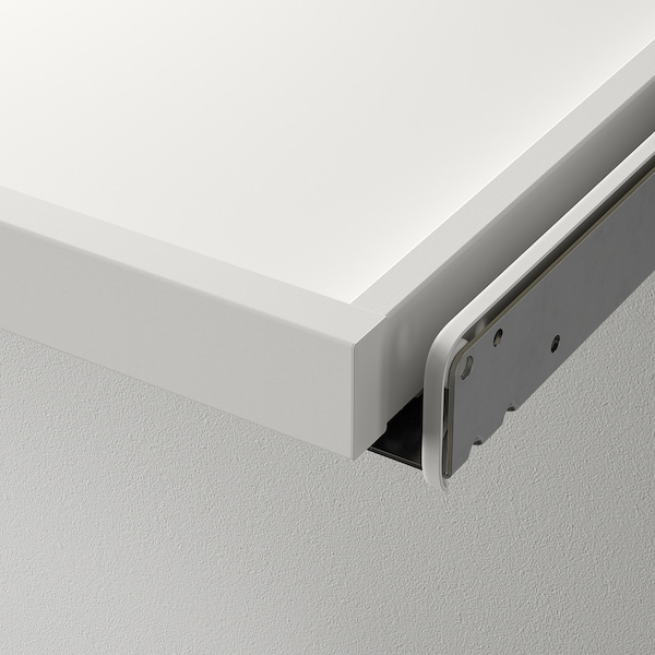 KOMPLEMENT Utdragbart hyllplan med avdelare, vit/ljusgrå, 50x58 cm