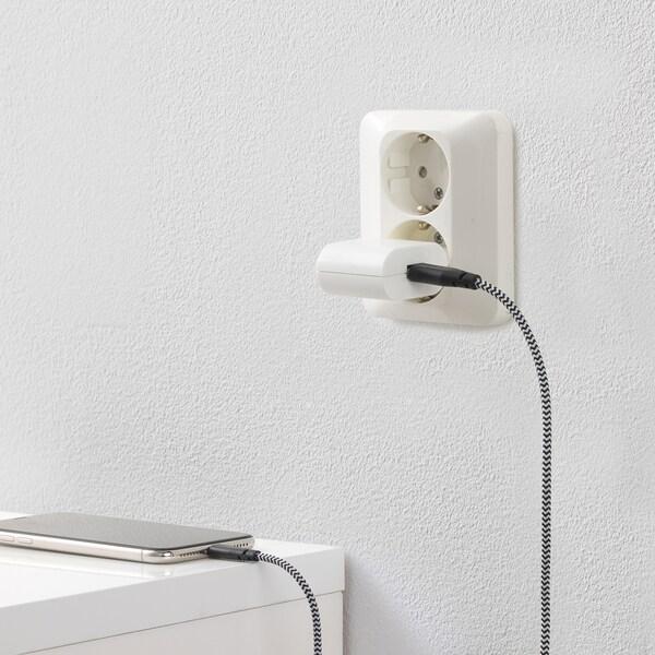 KOPPLA USB-laddare med 1 port, vit