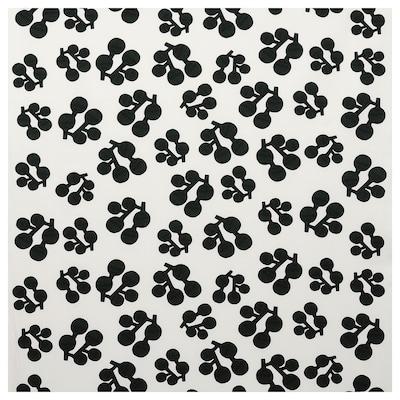 KORALLOXBÄR Metervara, vit/svart mörkgrön, 150 cm