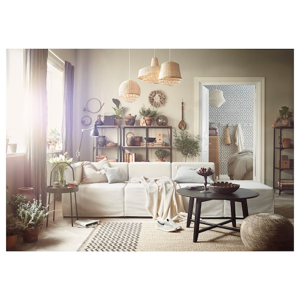 KRAGSTA Soffbord, svart, 90 cm