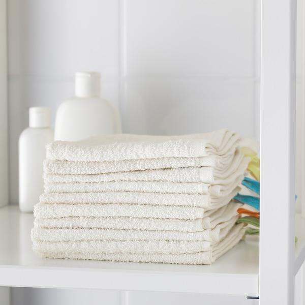 KRAMA Tvättlapp, vit, 30x30 cm